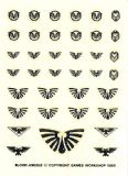 Blood Angels Black Small Transfer Sheet Warhammer 40,000 decals (1989)